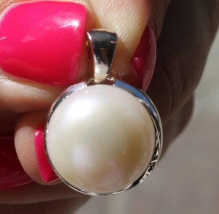 Pearl, pendant,  Sterling silver