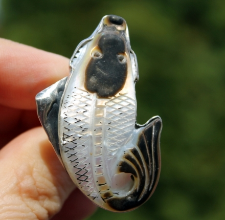 Shell, ring, sterling silver